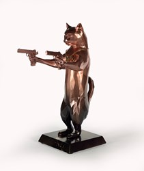 Rebel With The Paws (Bobby) by Maxim - Original Sculpture sized 12x17 inches. Available from Whitewall Galleries